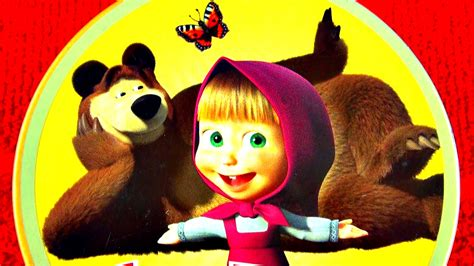 masha i medved masha and the bear giant youtube masha the bear candy food review lollies chewing gum
