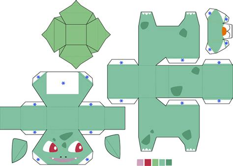 Bulbasaur Papercraft - papercraft on behance