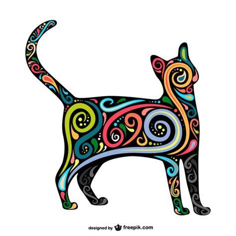 imagenes abstractas vectores vector art 237 stico abstracto de gato descargar vectores gratis