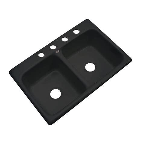 Black Drop In Kitchen Sink Thermocast Brighton Drop In Acrylic 33x19x9 4