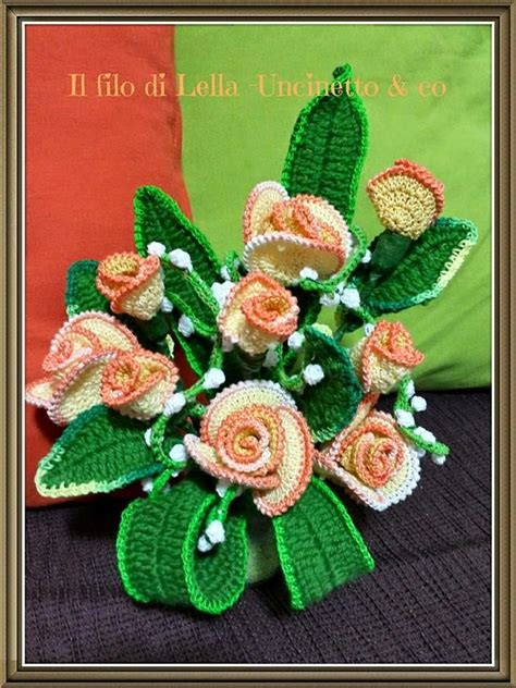 pattern of flower arrangement beautiful crochet flowers a collection of other ideas to