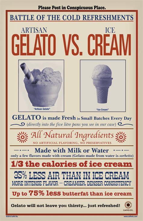 caffe etc artesan gelato vs ice cream