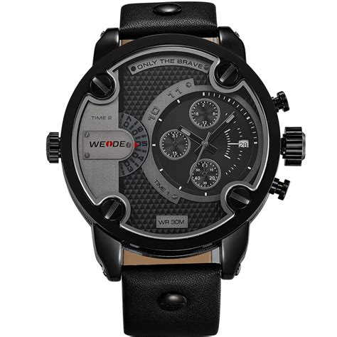 weide jam tangan japan quartz miyota wh3301 black black jakartanotebook