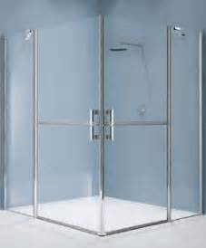 xl corner shower with stable doors for easy access and