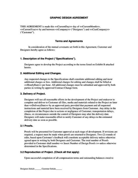 Freelance Animation Contract Template Freelance Designer Contract Template Sletemplatess Sletemplatess