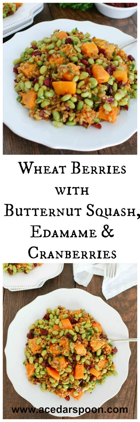 Den Mandarin Turkey Day Detox by Wheat Berries With Butternut Squash Edamame And