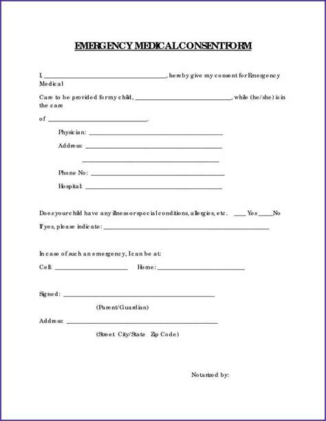 release form template for children printable release form for children oloschurchtp