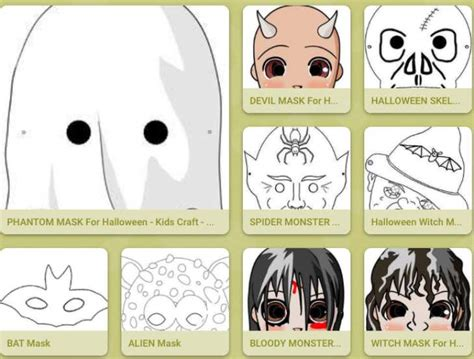 printable halloween masks for adults best free printable halloween masks for kids and adults