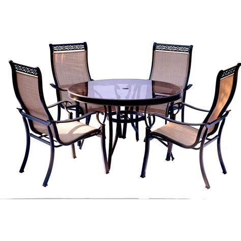 Hanover Monaco 5 Piece Aluminum Outdoor Dining Set with