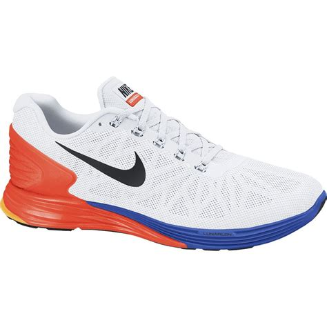running back shoes nike mens lunarglide 6 running shoes white black