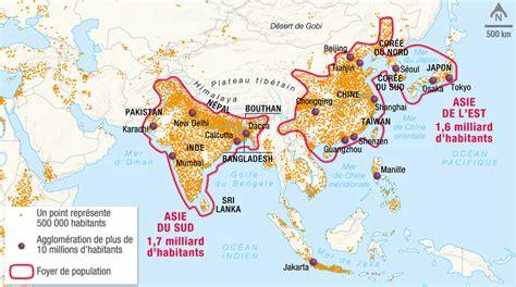 11 foyer de population l asie du sud premier foyer de population au monde 1 2