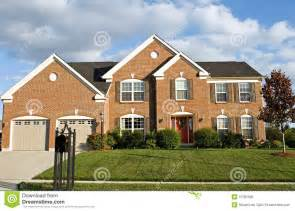 two story two story brick house royalty free stock image image