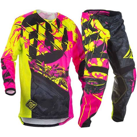 fly racing motocross gear fly racing 2018 youth mx kinetic outlaw pink hi vis
