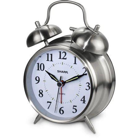 sharp twinbell quartz analog alarm clock walmart.com