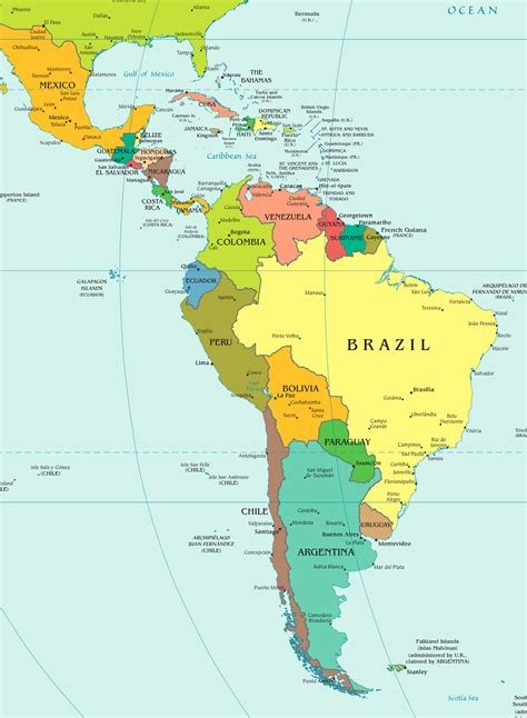 map of south american countries map of american countries kelloggrealtyinc