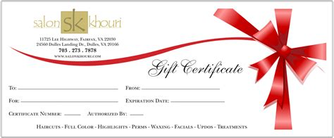 gift certificate templates find word templates