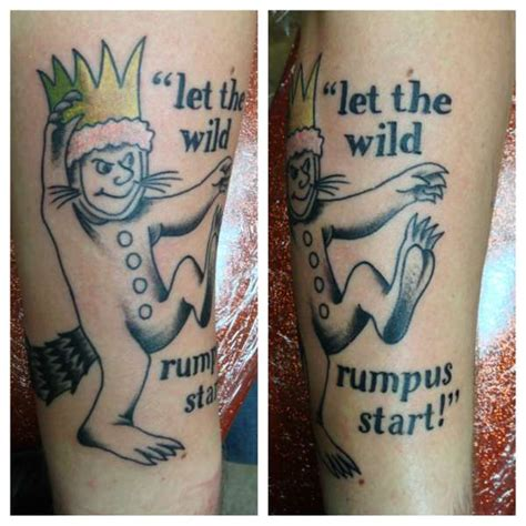 where the wild things are tattoos where the things are thetattooedgeisha