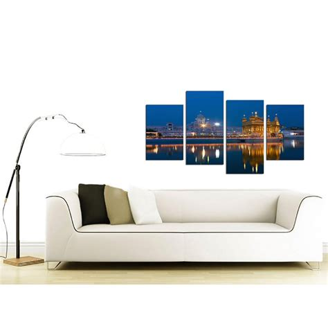 Cheap Wall Pictures For Living Room by Sikh Canvas Wall Of Golden Temple Amritsar For A Bedroom 4 Part