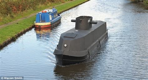 how to make a paper canal boat replica german u boat cruises alongside barges on british