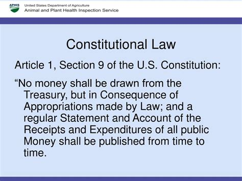 Article I Section 9 Of The Us Constitution by Ppt Federal Budget Process Powerpoint Presentation Id