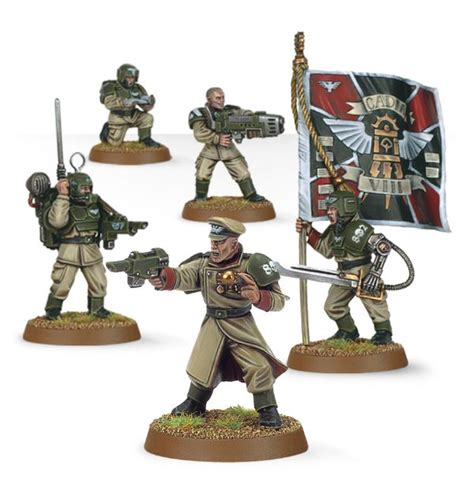 Platoon Edition Figure astra militarum cadian command squad s cd and hobby