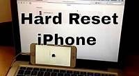 Hard reset iphone 6s/ 6s plus, SE, 6/ 6 / plus, 5s, 5c,5, 4s,4 (reset to factory settings)