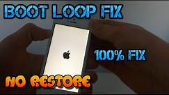 How To FIX iPhone/iPad/iPod Touch Stuck on Apple Logo Without Restoring/Losing Data (Boot Loop FIX)