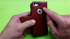 iPhone 5/5s/SE Premium Leather Wallet Case Review (OCASE)