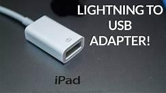iPad Lightning to USB Camera Adapter Review!