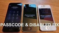 How to reset disabled or Password locked iPhones 6S & 6/Plus/SE/5s/5c/5/4s/4/iPad or iPod