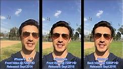 iPhone 6/6s/7: Video Camera Selfie Shoot Off Side by Side Comparison!