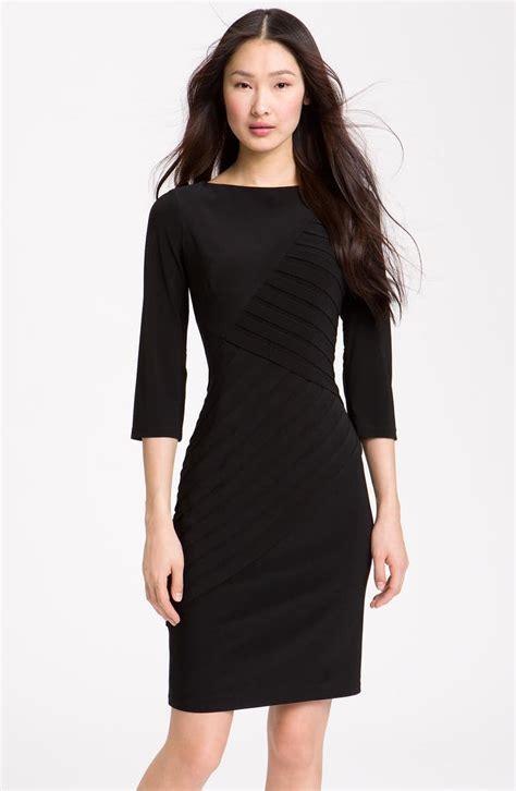 Adrianna Papell Pleated Jersey Sheath Dress
