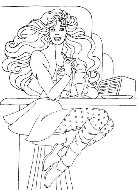 All Barbie Coloring Pages Only
