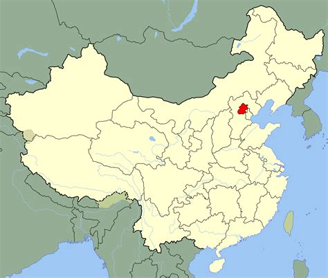 Beijing China Map