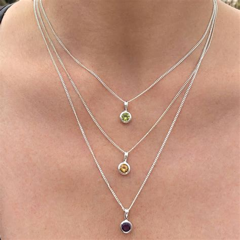Birthstone Charms for Necklace