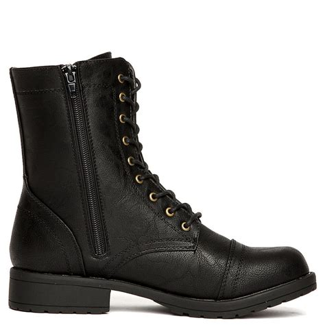Black Combat Boots for Women