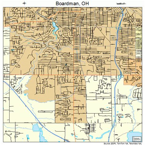 Boardman OH Map