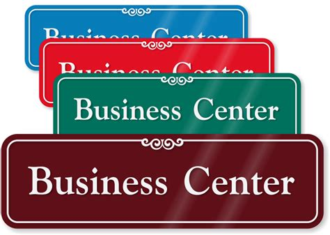 Business Center Signs