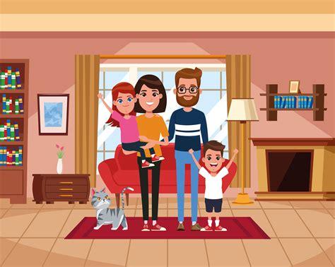 Cartoon Family Home