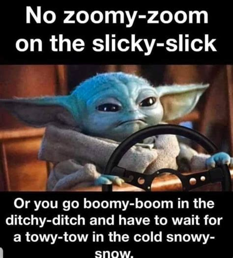 Driving in Snow Meme