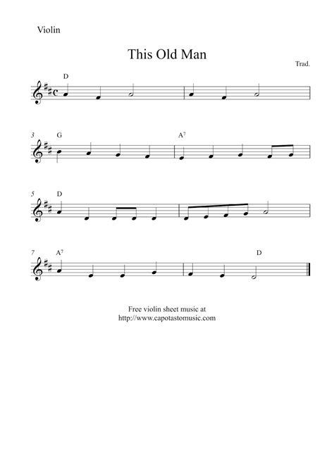 Easy Violin Sheet Music