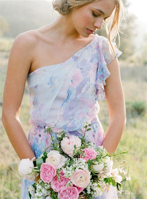 Floral Print Bridesmaid