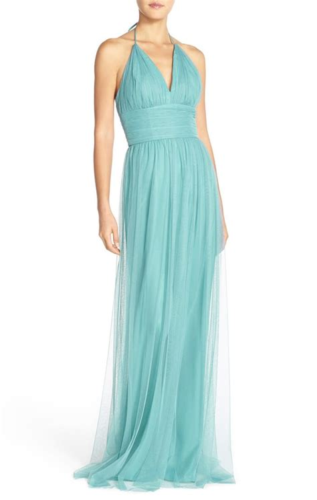 Halter Empire Waist Smocked Nightgown