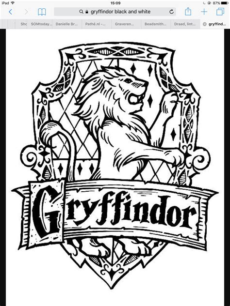 Galerry coloring pages for adults harry potter