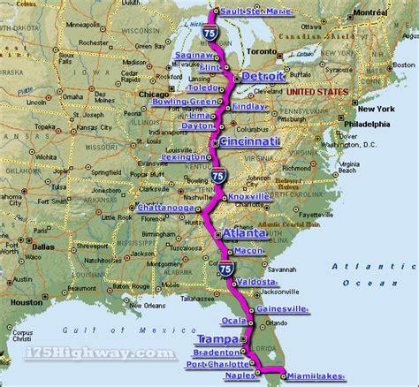 Interstate 75 Map