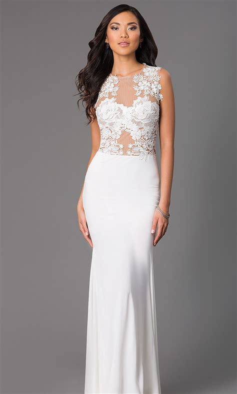 Ivory Colored Evening Gowns