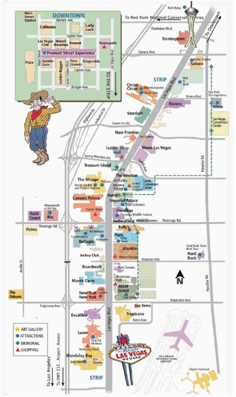 Las Vegas Strip Map Printable