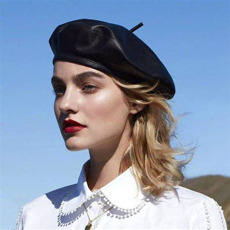 Leather Berets for Women
