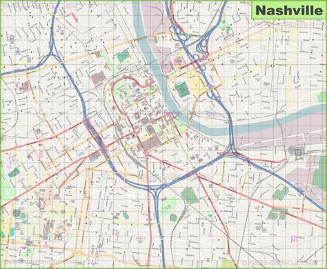 Map of Nashville TN