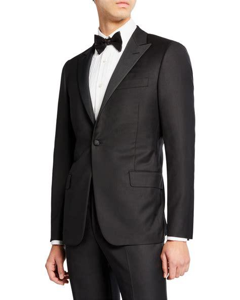 Men's Hickey Freeman Suit Peak Lapel